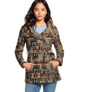 Mossimo Southwest Print Hooded Jacket Coat Medium